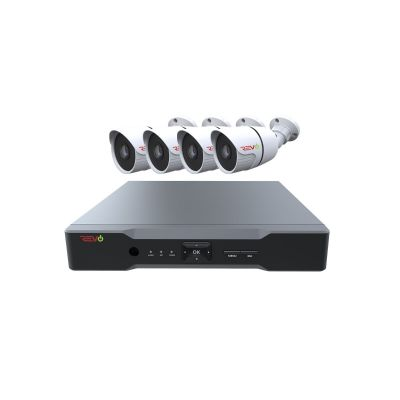 Aero HD 1080p 4 Ch. Video Security System with 4 Indoor/Outdoor Bullet Cameras