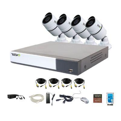 REVO Aero 4CH 1080p DVR, 1TB  & 4x 1080p Indoor/Outdoor Bullet Cameras