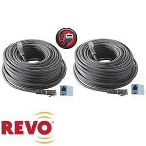 Revo 100' 2 Pack RJ12 Cable Quick Connect (x2)