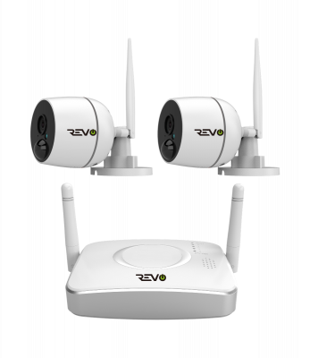 4CH Wireless Gateway, 32GB Micro SD Card & 2x 1080p Audio Capable Bullet Cameras with built-in PIR