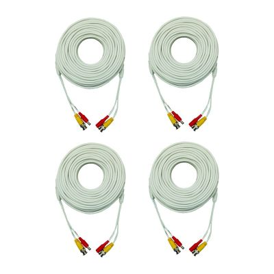 200' Premium Grade BNC Coaxial Cable - Pack of 4