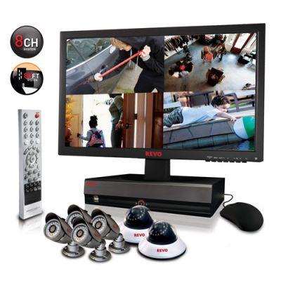 REVO Professional 8 Channel DVR w/ 2TB HDD