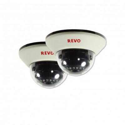 1200 TVL Indoor Dome Surveillance Camera with 100 ft. Night Vision (2-Pack)