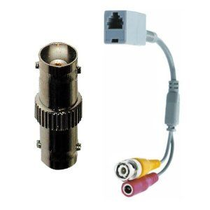 RRJBNCCOUP-BR RJ12 to BNC Adapter Coupler with BNC Female to Female Barrel Connector