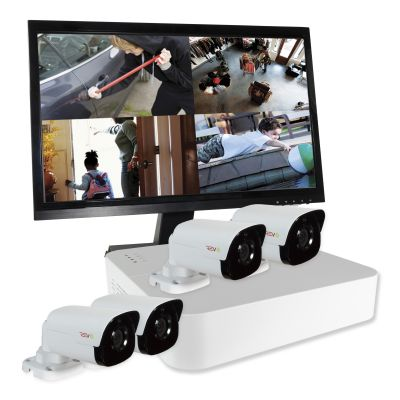 Ultra™ HD Surveillance System with Security Cameras & Monitor