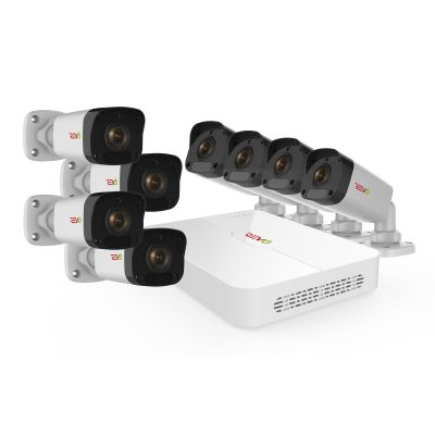Ultra HD 8 Ch. 2TB NVR Surveillance System with 8 2MP Bullet Cameras and 100' Night Vision