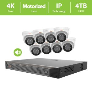 REVO ULTRA 16CH 4K NVR, 4TB, 8x 4K Motorized Lens Audio Capable Cameras