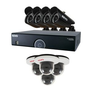 16 Ch Surveillance DVR System with 8 Indoor/Outdoor Security Cameras