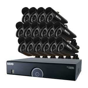 16 Ch Surveillance System with 16 Cameras for Home and Business