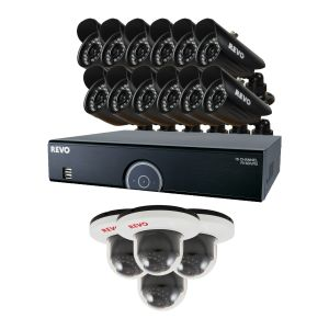 16 Ch Surveillance System with 16 Indoor/Outdoor Security Cameras