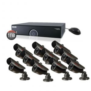 *SUPER SAVINGS* REVO 16 CH PREMIUM NIGHT VISION SECURITY SYSTEM WITH 10 BULLET CAMERAS