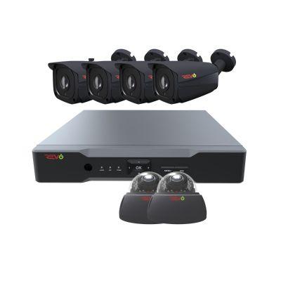 Aero HD 8 Ch. 2TB 5MP Video Surveillance System with 6 Indoor/Outdoor Cameras