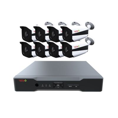 Aero HD 8 Ch. Video Security System with 8 Indoor/Outdoor 5 Megapixel Bullet Cameras