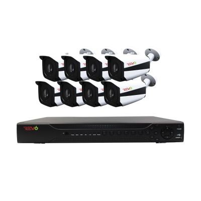 Aero HD 16 Ch. Video Security System with 8 Indoor/Outdoor 5 Megapixel Bullet Cameras