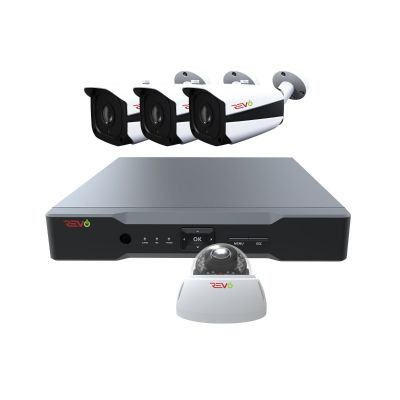 Aero HD 8 Ch. Video Security System with 4 Indoor/Outdoor 5 Megapixel Cameras