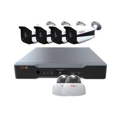 Aero HD 8 Ch. Video Security System with 6 Indoor/Outdoor 5 Megapixel Cameras