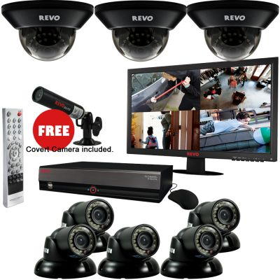 "16 Ch. 4TB DVR Surveillance System with 8 700TVL 100 ft. Night Vision Cameras, 21.5"" Monitor & Free Bonus Covert Camera"