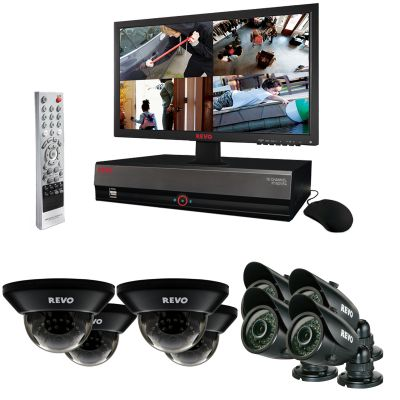 "16 Ch. 3TB DVR Surveillance System with 8 700TVL 100 ft. Night Vision Cameras & 21.5"" Monitor"