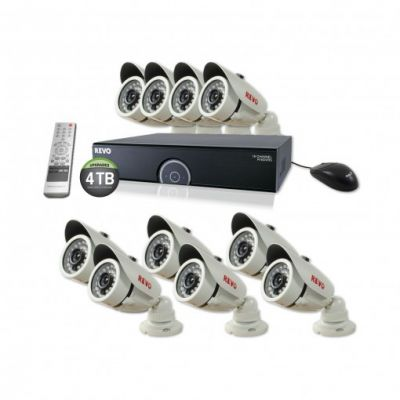 16 Ch. 4TB 960H DVR Surveillance System with 10 1200TVL 100 ft. Night Vision Cameras