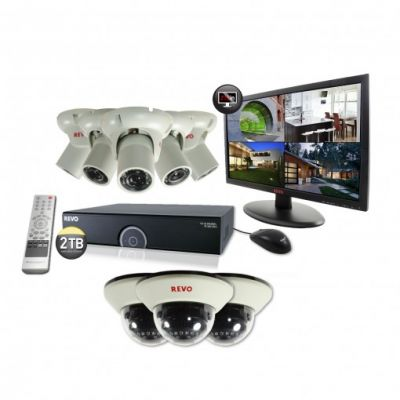 "16 Ch. 2TB 960H DVR Surveillance System with 8 1200TVL 100 ft. Night Vision Cameras & 21.5"" Monitor"