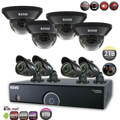 16 Ch. 2TB 960H DVR Surveillance System with 8 700TVL 100 ft. Night Vision Cameras