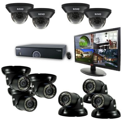"16 Ch. 4TB 960H DVR Surveillance System with 10 700TVL 100 ft. Night Vision Cameras & 21.5"" Monitor"