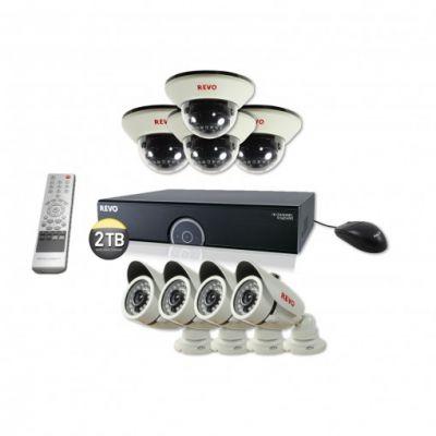 16 Ch. 2TB 960H DVR Surveillance System with 8 1200TVL 100 ft. Night Vision Cameras