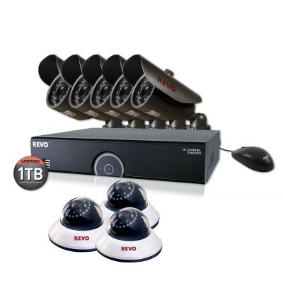 *SUPER SAVINGS* REVO 16 CHANNEL PREMIUM NIGHT VISION SECURITY SYSTEM WITH 8 SURVEILLANCE CAMERAS