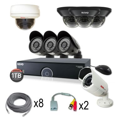 *SUPER SAVINGS* REVO 16 CHANNEL TITANIUM SERIES SECURITY SYSTEM WITH 8 SURVEILLANCE CAMERAS