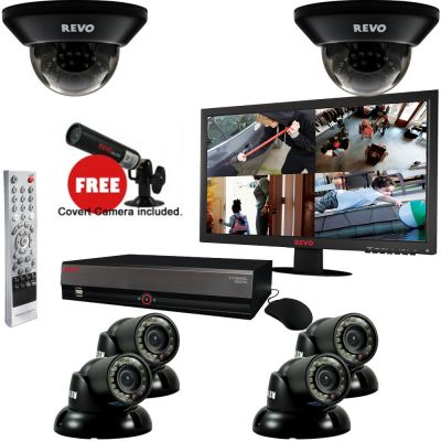 "8 Ch. 2TB DVR Surveillance System with 6 700TVL 100 ft. Night Vision Cameras, 21.5"" Monitor & Free Bonus Covert Camera"