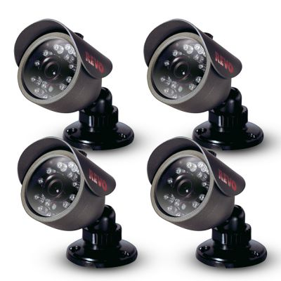 450 TVL Indoor/Outdoor Bullet Surveillance Camera with 33 ft. Night Vision (4-pack)