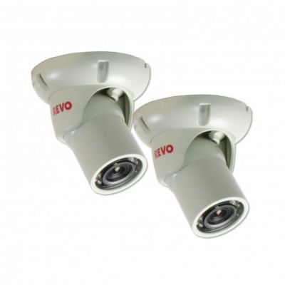 1200 TVL Indoor/Outdoor Mini Turret Surveillance Camera with 100 ft. Night Vision (2-Pack)