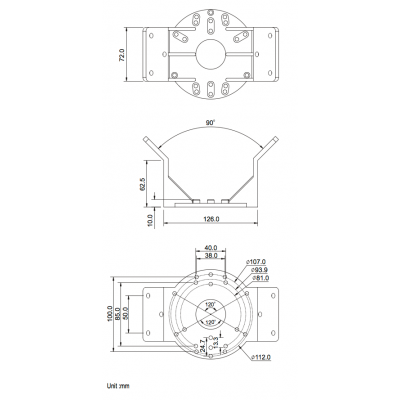Corner Mount Bracket for REDCWB-1