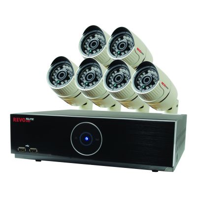 Elite HD 8 Ch. 2TB NVR Surveillance System with 6 2.1 Megapixel HD Cameras