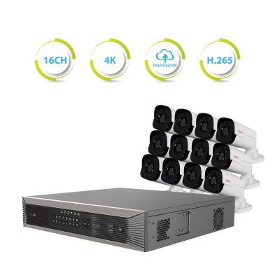 Ultra Plus HD 16 Ch. NVR Surveillance System with 12 Security Cameras