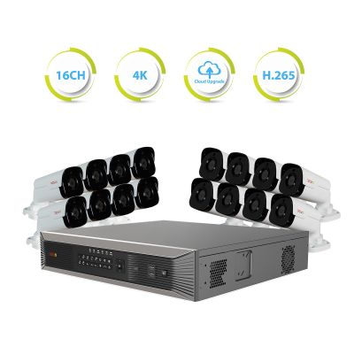 Ultra Plus HD 16 Ch. 4TB NVR Surveillance System with 16 Bullet Cameras