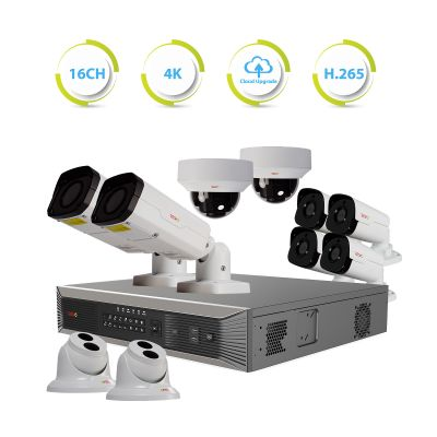 Ultra plus HD 16 Ch. NVR Surveillance System with 10 4 Megapixel Cameras