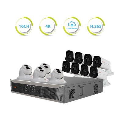 Ultra Plus HD 16 Ch. 4TB NVR Surveillance System with Security Cameras