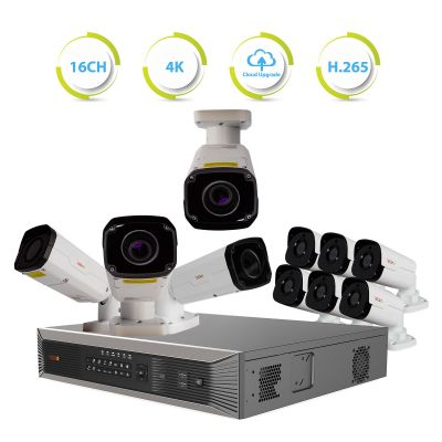 Ultra Plus HD 16 Ch. NVR Surveillance System with 10 Security Cameras