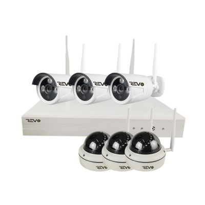 Wireless 8CH Full-HD NVR, 1TB with 6x 1080p Cameras